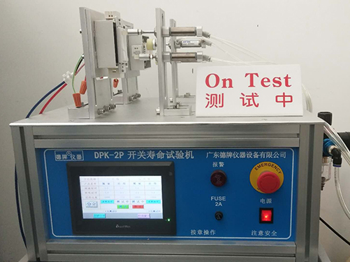 Switch lifetime testing under full capacitive load